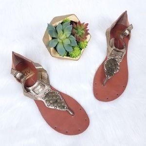 Dolce Vita | Gold Strappy Embellished Sandals